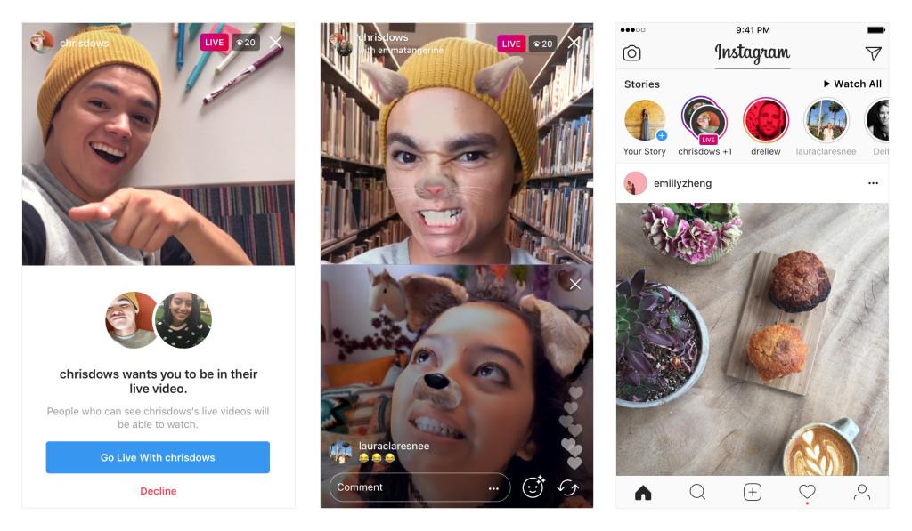 Instagram představuje sdílené živé přenosy