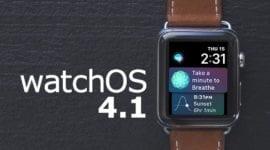 Unikly poznámky k nové verzi watchOS 4.1 Golden Master