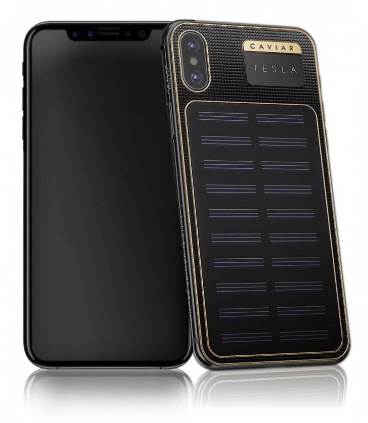 Caviar Tesla nabídne solární nabíjení u iPhonu X