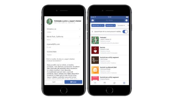 Facebook spouští službu Jobs (Pracovní místa)