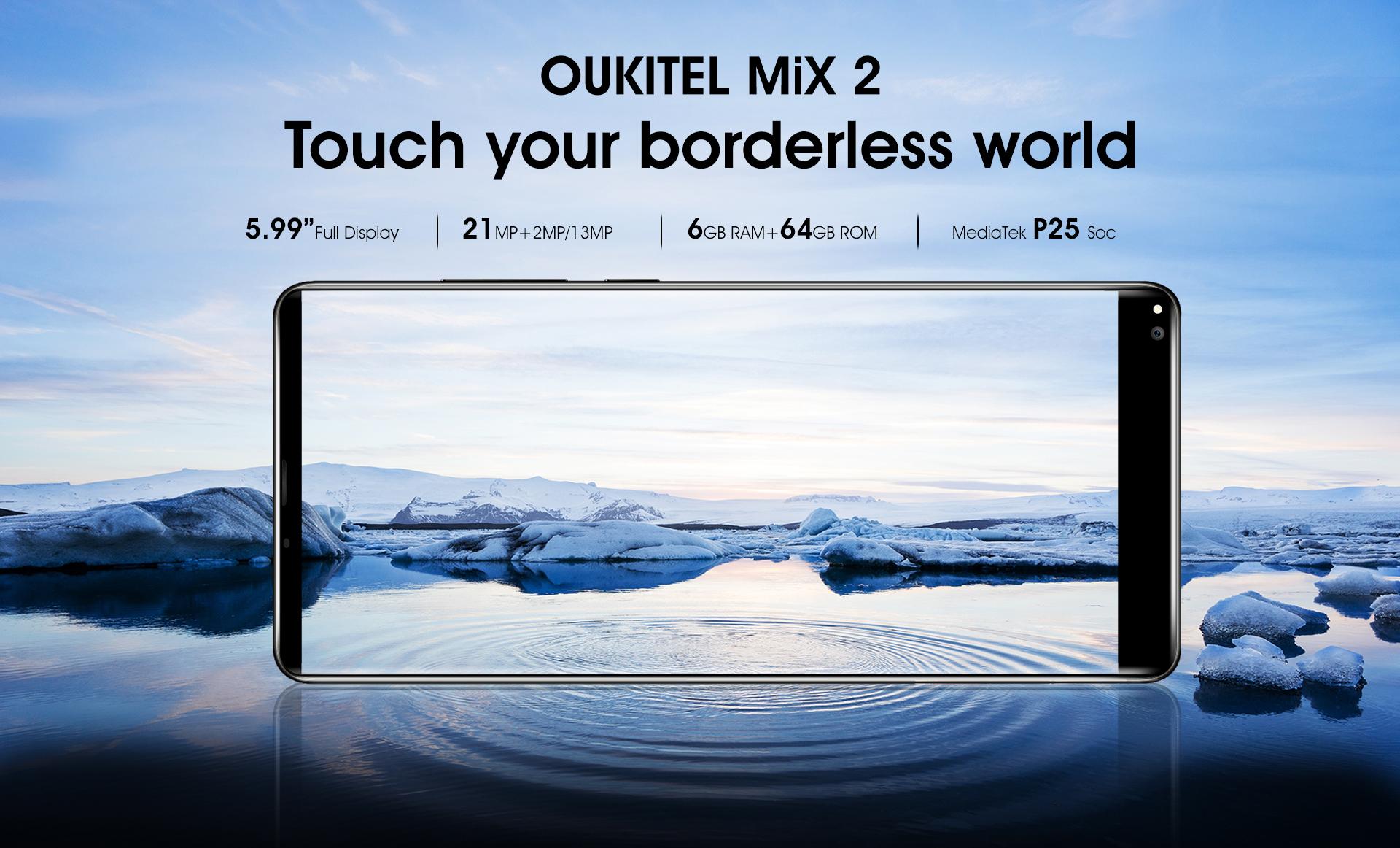 Oukitel představil model Mix 2, zcela kopíruje Xiaomi