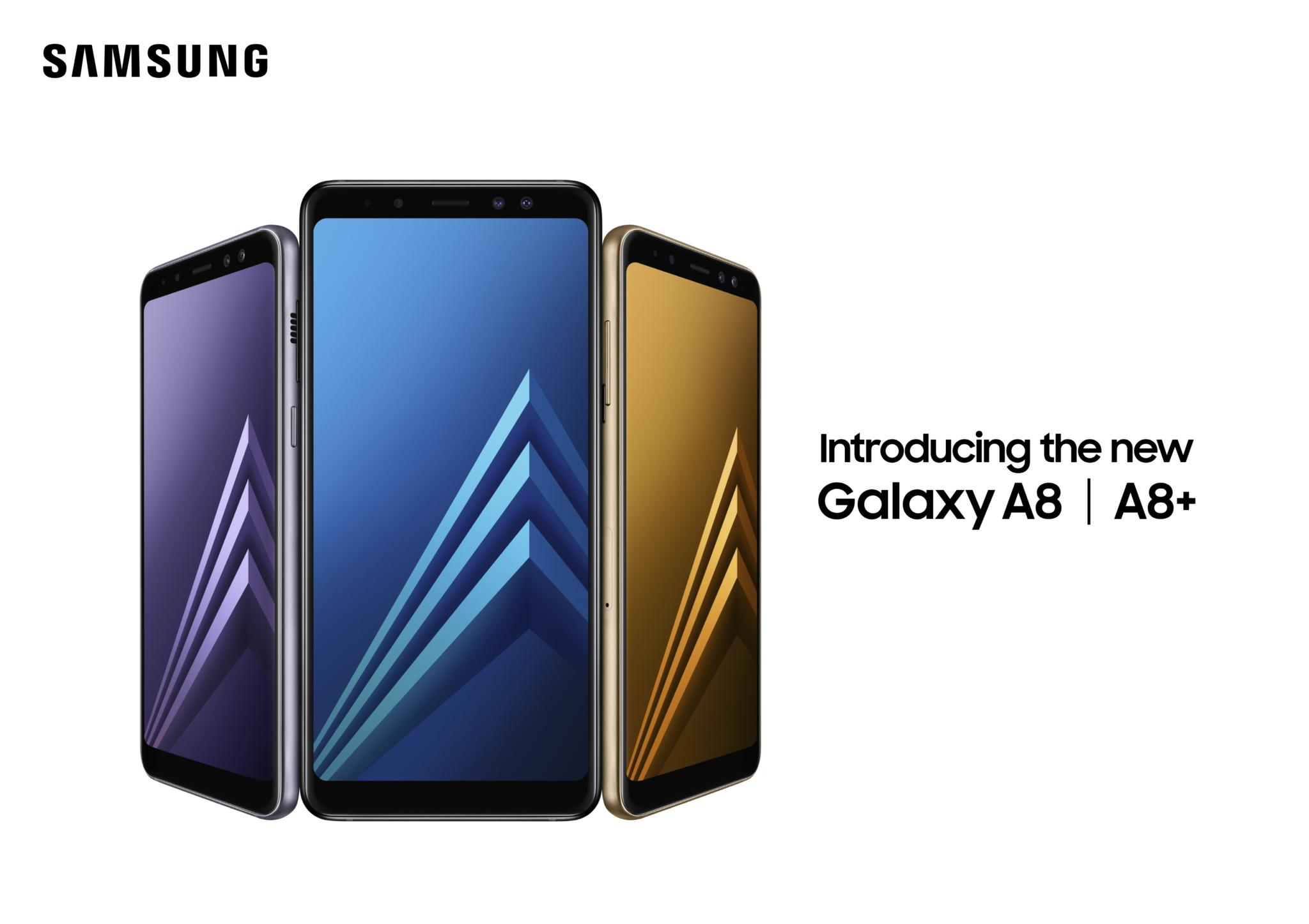Samsung představil Galaxy A8 (2018) a Galaxy A8+ (2018) [aktualizováno]