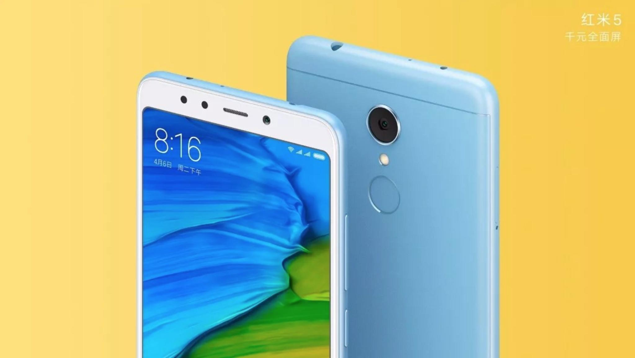 Xiaomi tento týden představí modely Redmi 5 a Redmi 5 Plus