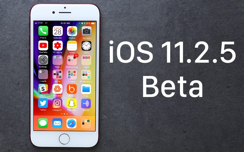Apple zveřejnil druhou betu iOS 11.2.5