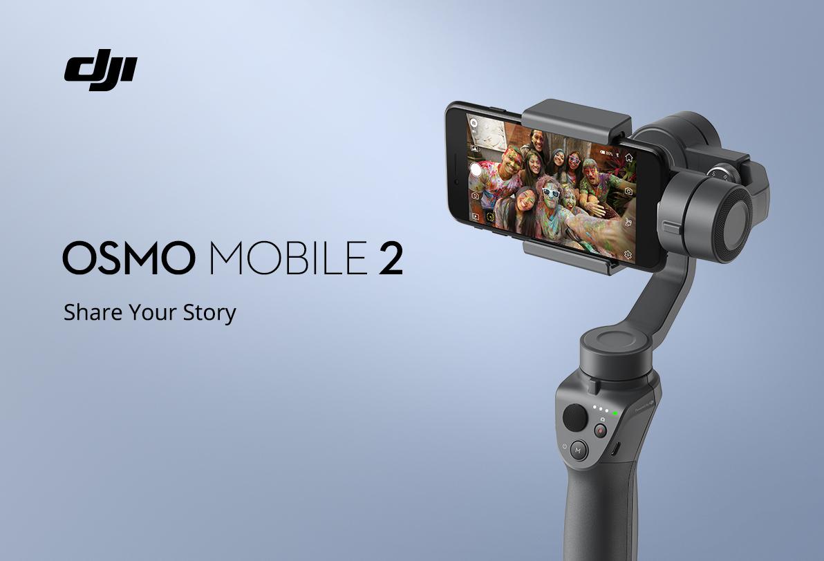 DJI Osmo Mobile 2 – nová generace stabilizátoru s větší výdrží