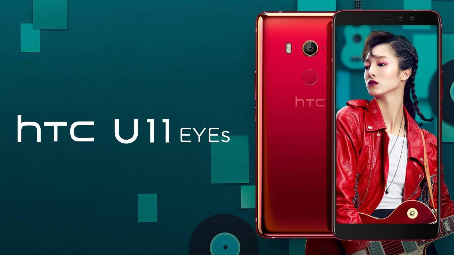 HTC U11 EYEs oficiálně – nabízí duální selfie foťák a IP67