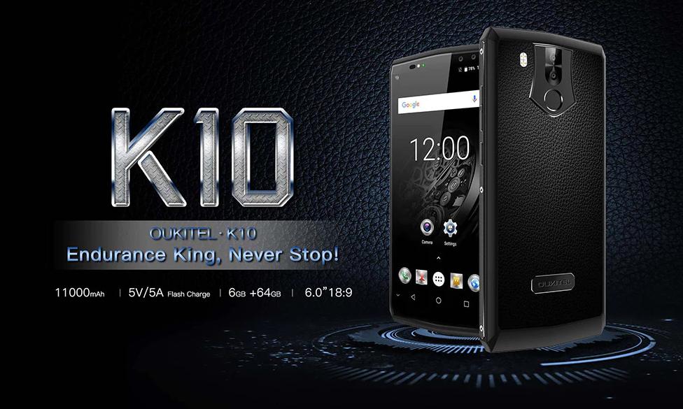 Oukitel K10 – výdrž při zapnuté obrazovce přes 20 hodin
