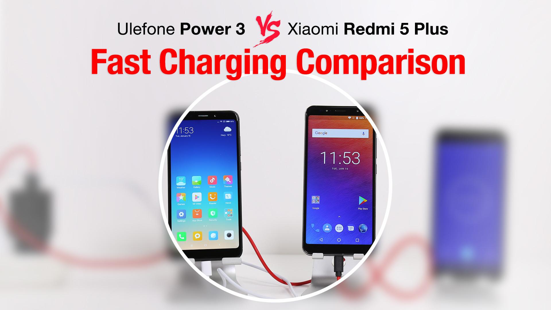Porovnán bateri Ulefone Power 3 VS Xiaomi Redmi 5 Plus [sponzorovan½ článek]
