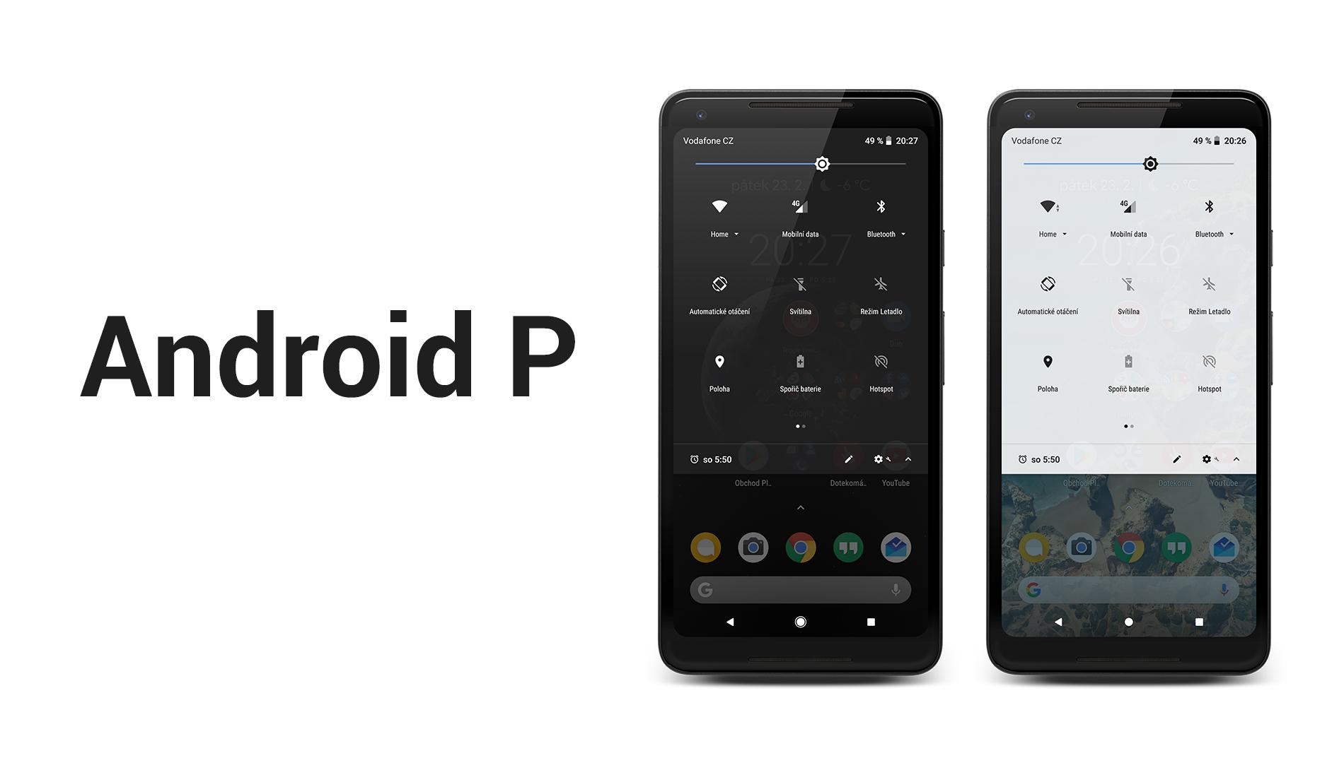 Android P (ne)nabídne tmavý režim v plné kráse [aktualizováno]