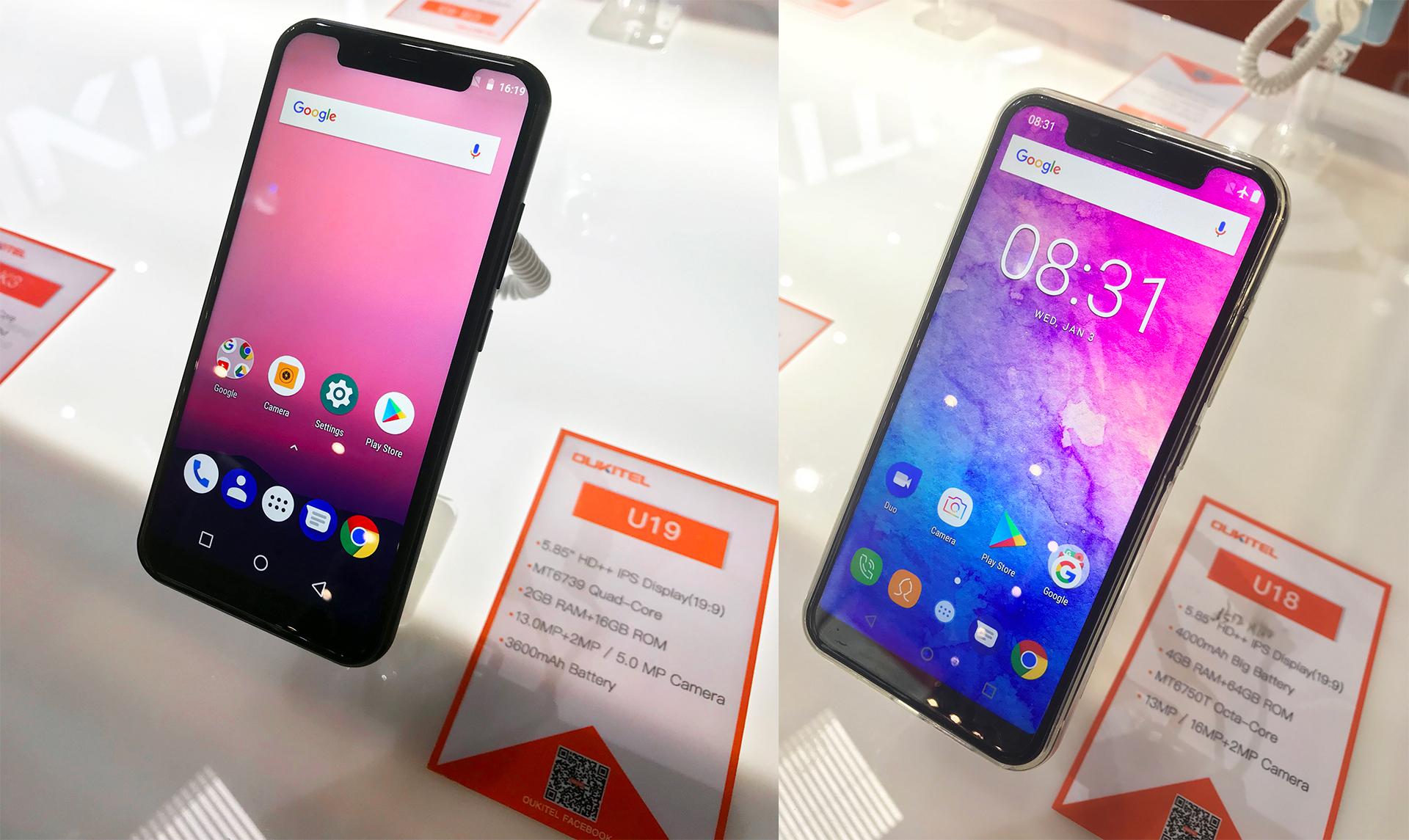 Oukitel představil U19, slabou kopii iPhone X