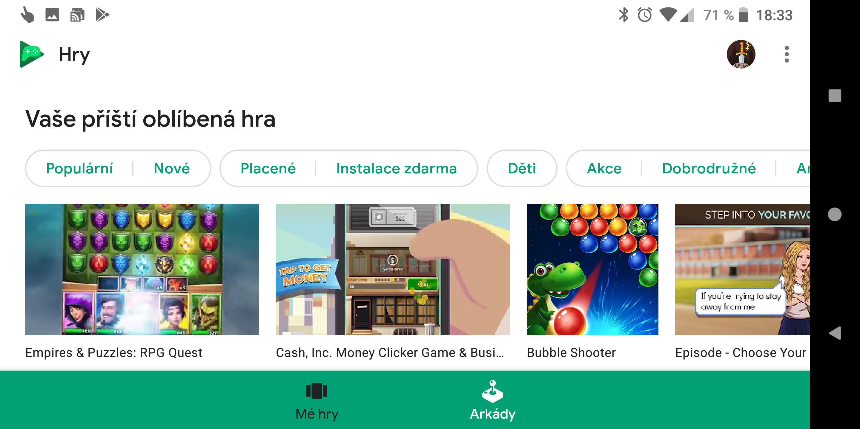 Hry Google Play v novém kabátu a s podporou Instant Apps