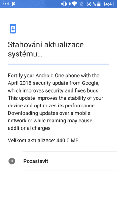 aktualizace Androidu