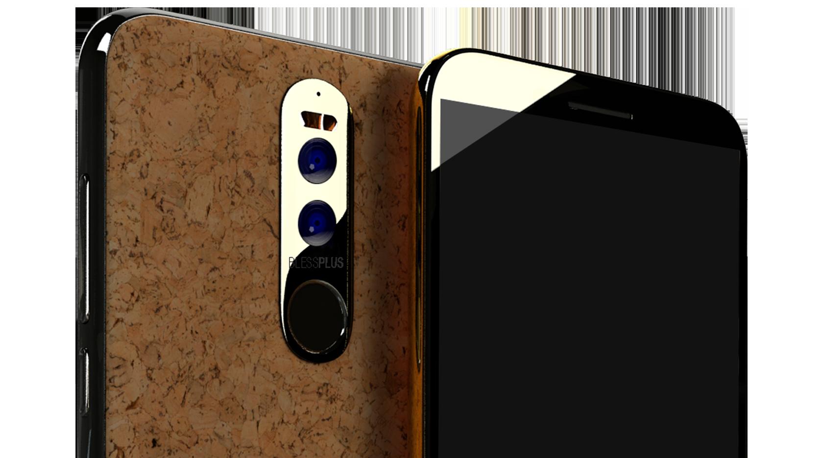 Ikimobile BLESSPLUS – odolný telefon z korku