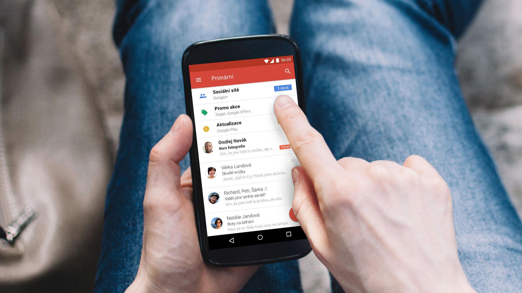 Gmail nabídne širší možnosti v rámci doručených emailů