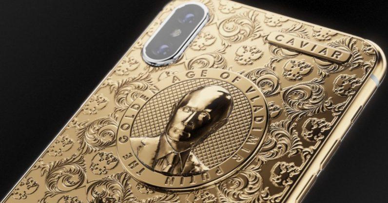 Caviar nabízí iPhone X v nové edici Putin Golden Age