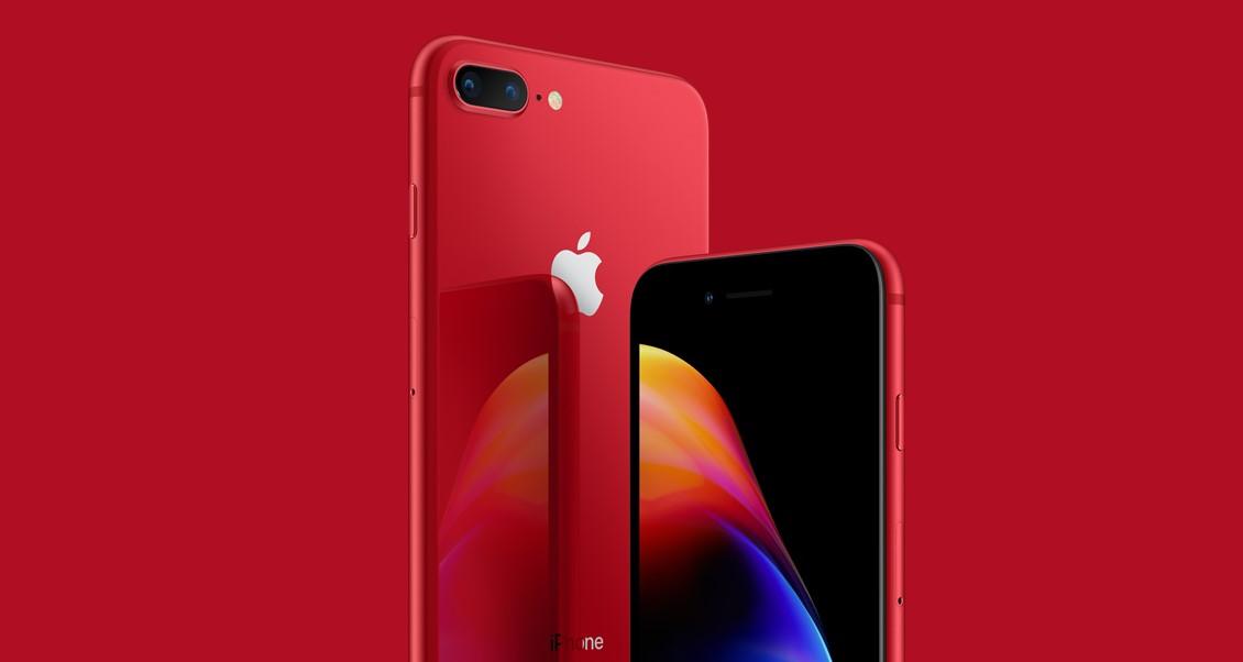 Apple představil iPhony 8 a 8 Plus série (product)RED