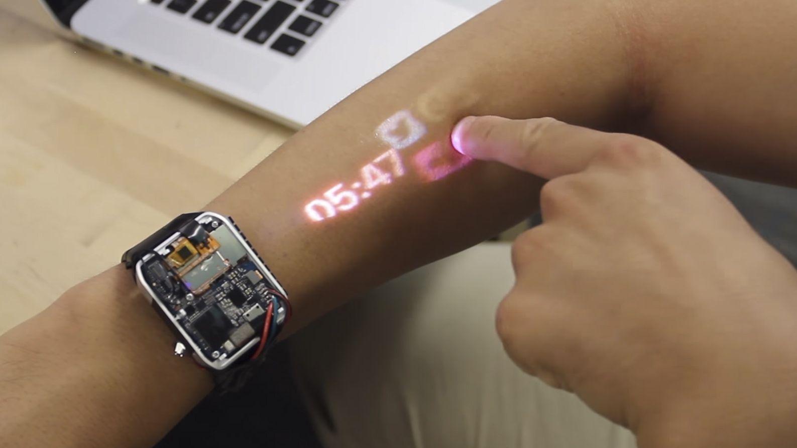 Proměňte své předloktí v touchscreen díky projektu LumiWatch