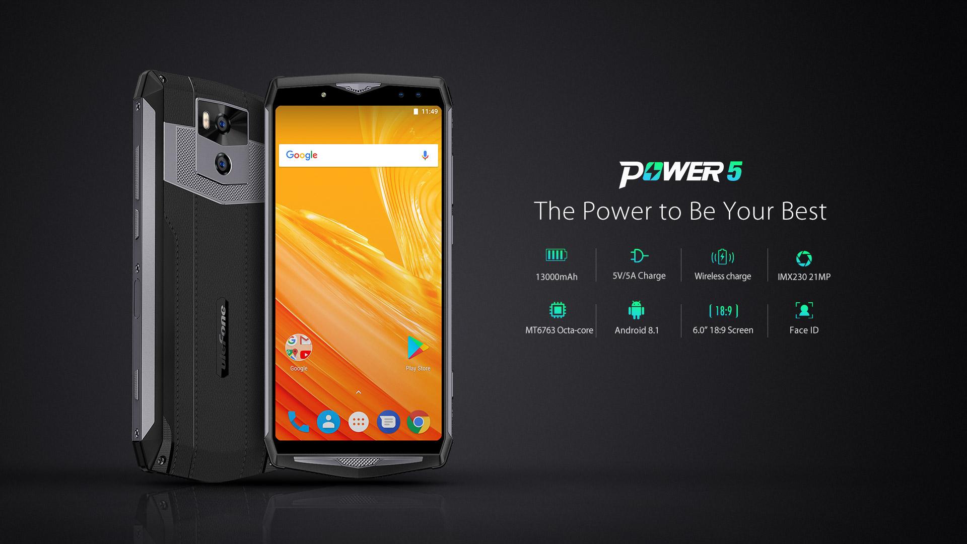 Ulefone Power 5 – brzy v předprodeji za exkluzivní cenu [Sponzorovaný článek]