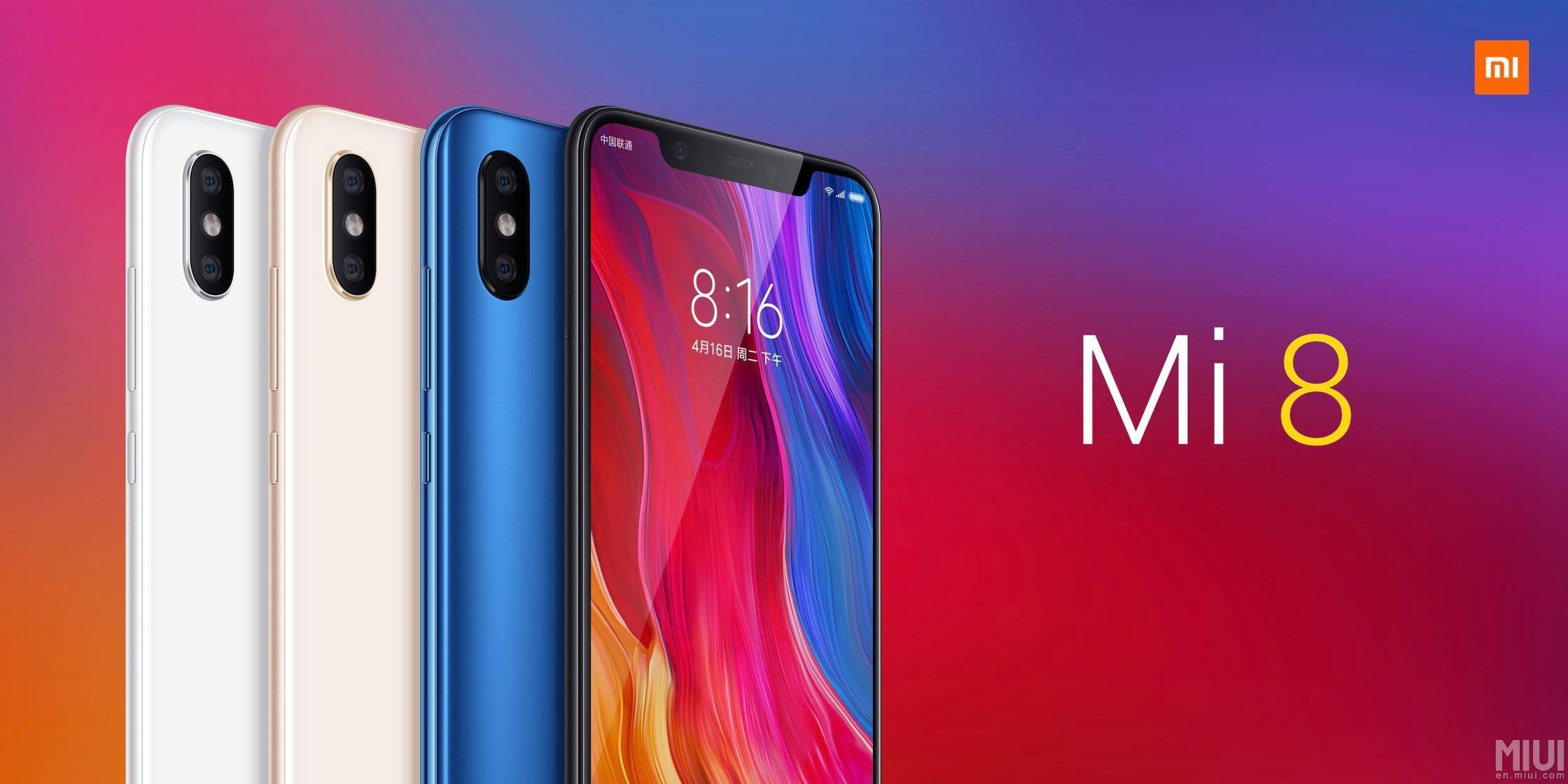 Xiaomi představilo Mi 8, Mi 8 Explorer Edition a Mi 8 SE