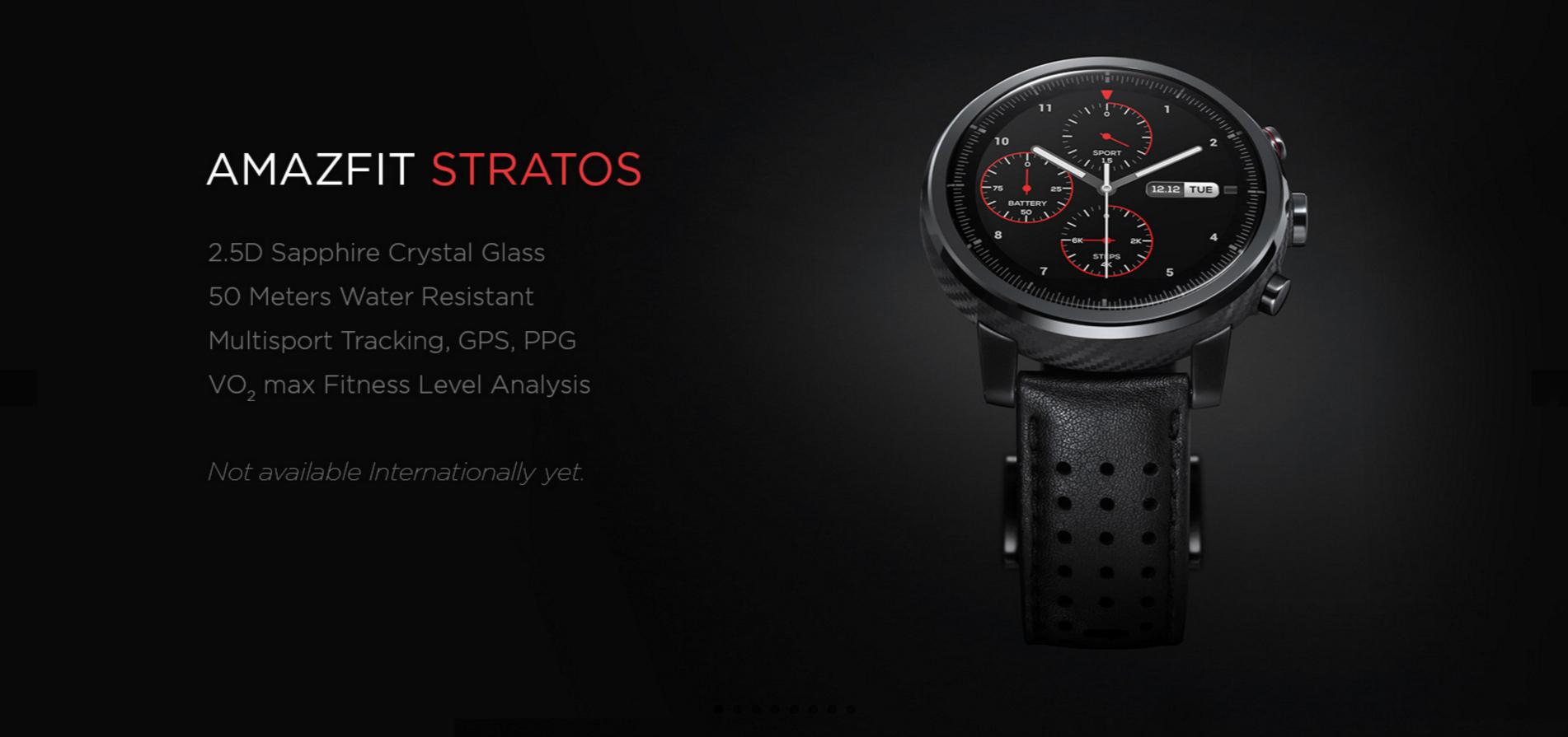 Sleva 65 dolarů na originální chytré hodinky Xiaomi Amazfit Stratos Watch  2!  sponzorovaný článek  76f205b764