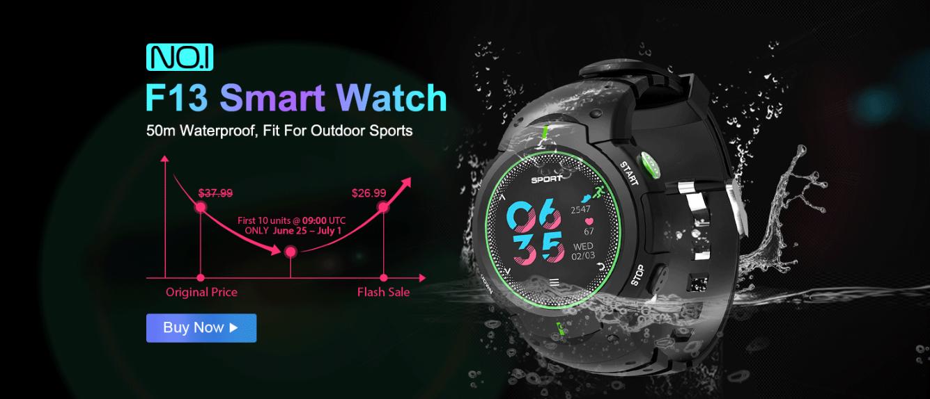 Zbrusu nové hodinky NO.1 F13 za nejvýhodnější cenu u GearBestu [sponzorovaný článek]