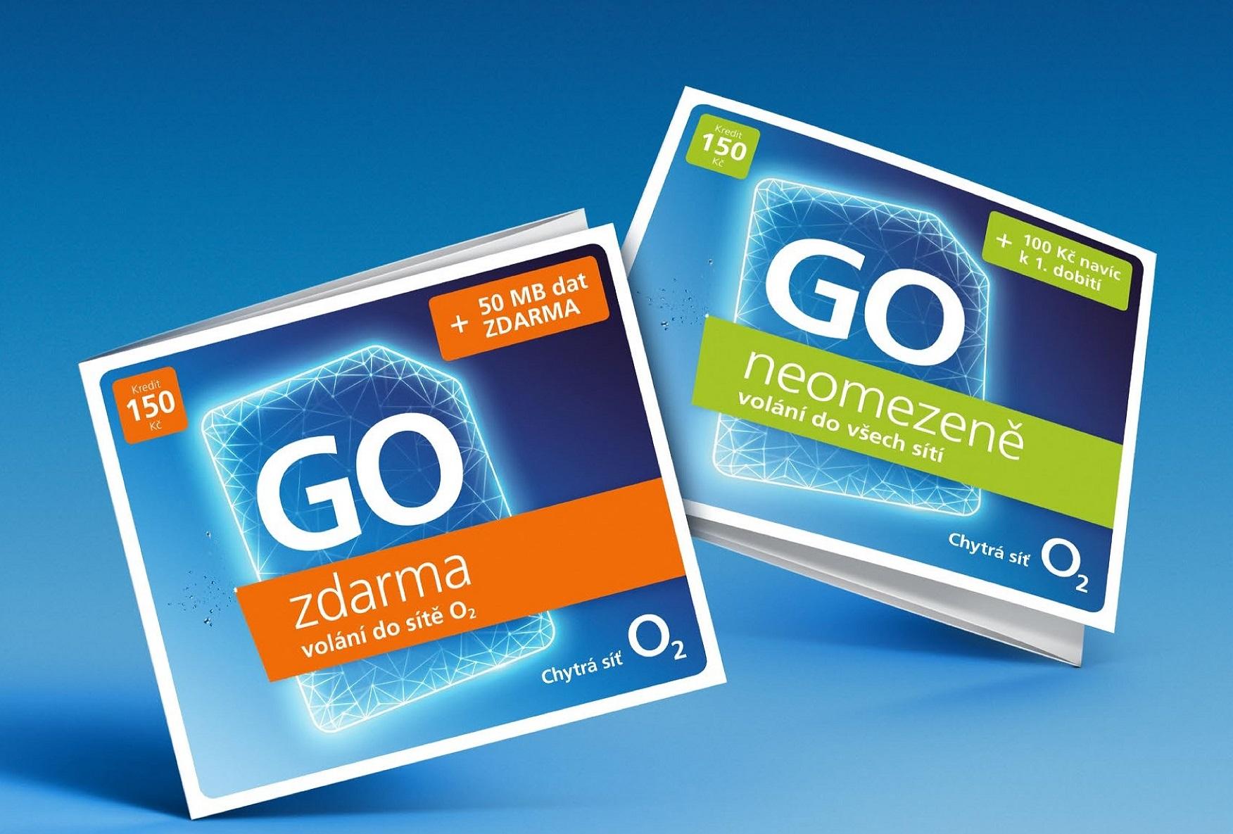 """Mobilní operátor O2 obnovuje koncept předplacených karet s označením """"GO"""""""