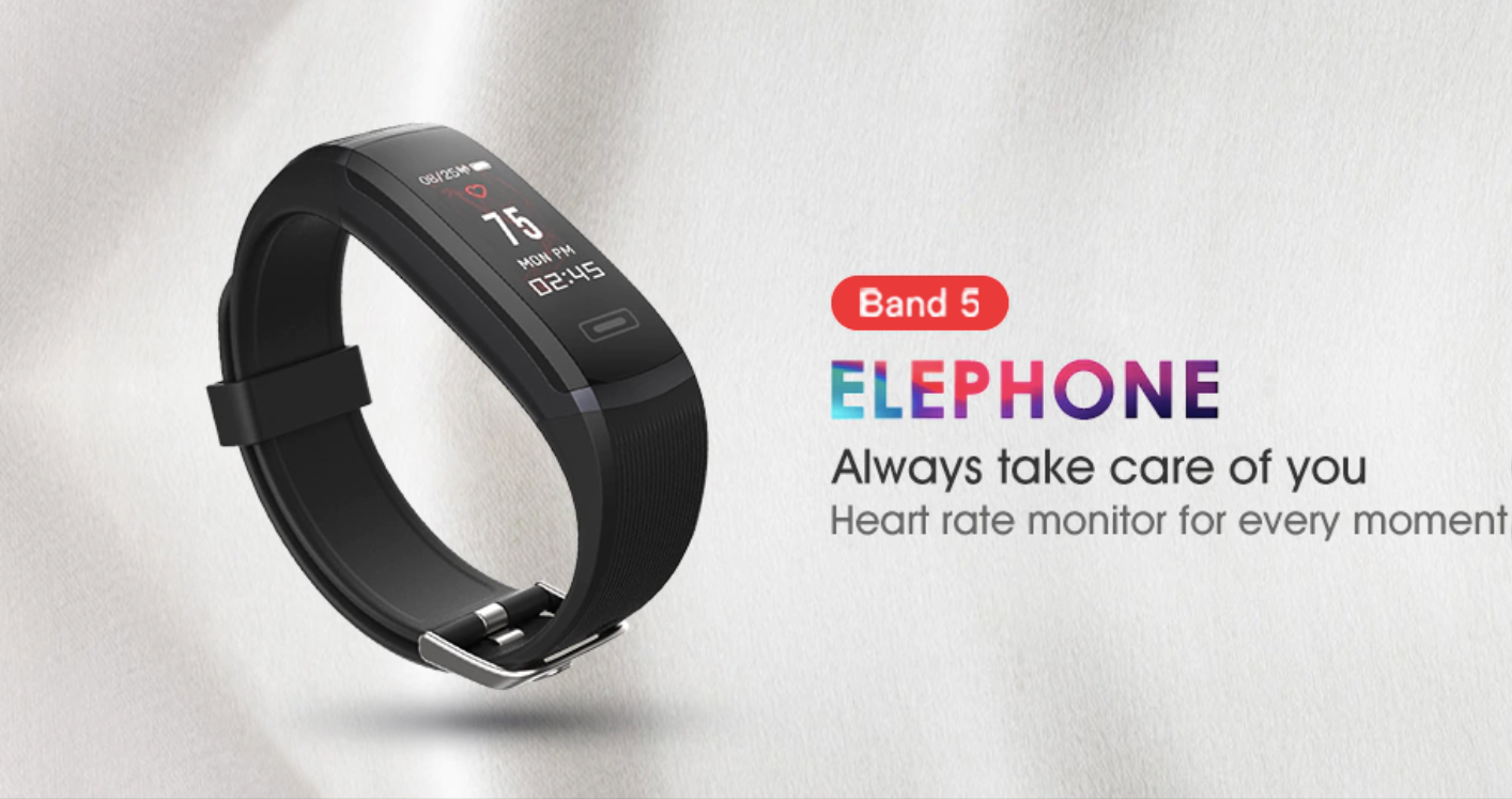 Elephone ELE Band 5 – fitness náramek za výhodnou cenu na GearBest.com [Sponzorovaný článek]