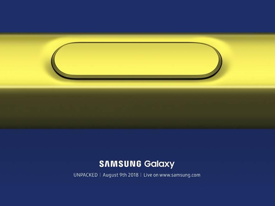 Samsung Galaxy Note 9 se představí 9. srpna