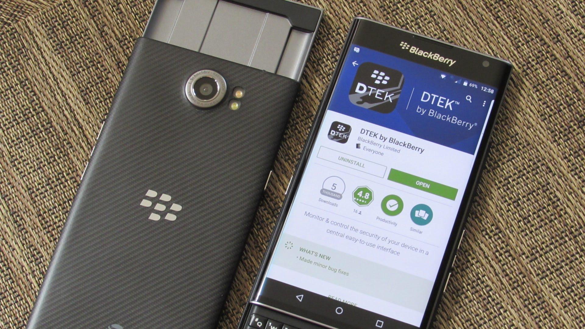 Aplikace DTEK od BlackBerry se dočkala velmi důležité aktualizace