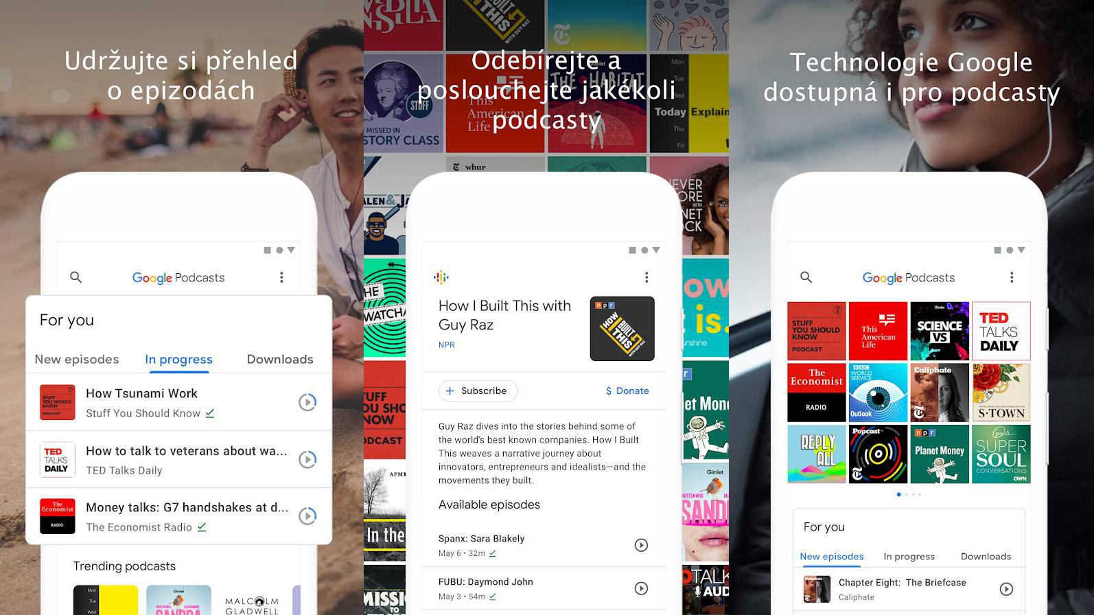 Podcasty Google je nová aplikace nabízející i český obsah