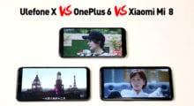 Ukázka porovnání Ulefone X s OnePlus 6 a Xiaomi Mi 8 [Sponzorovaný článek]