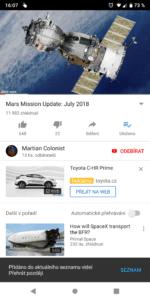 Ukládání videí do seznamu