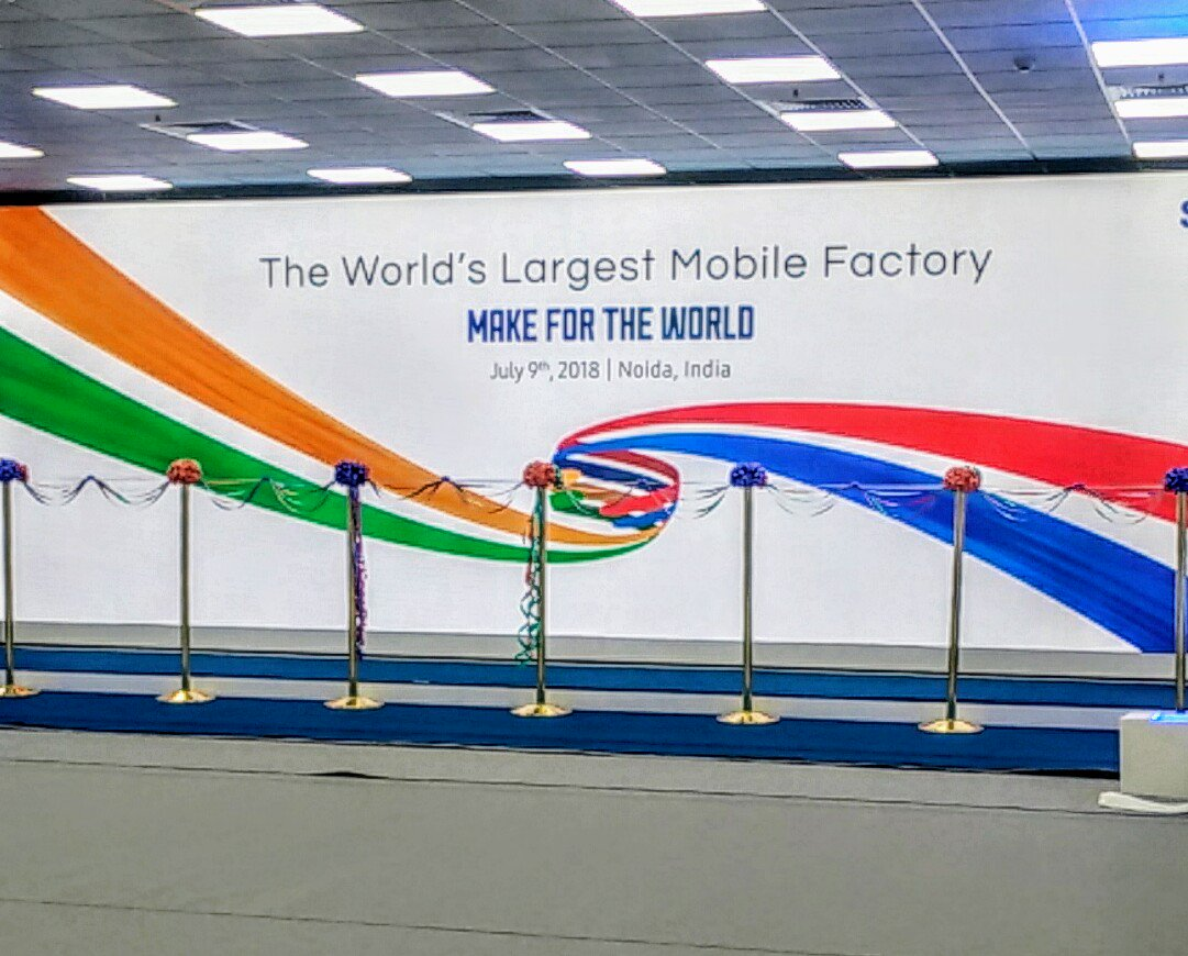 Samsung v Indii postavil svoji největší továrnu na mobilní telefony
