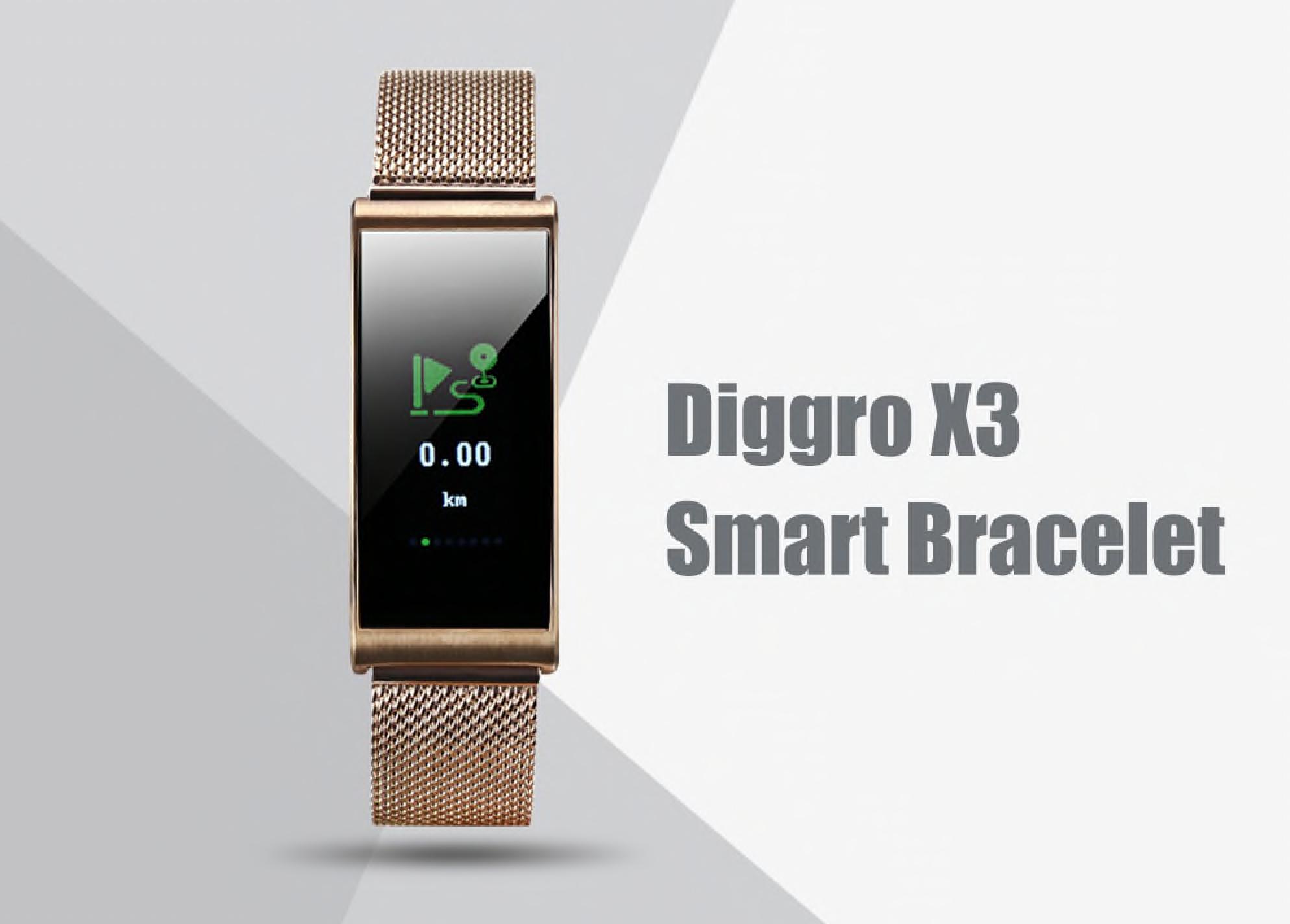 Gearbest: Elegantní chytrý náramek Diggro X3 nyní za skvělou cenu! [sponzorovaný článek]