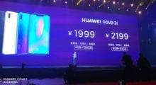 Huawei Nova 3i oficiálně, přichází s procesorem Kirin 710