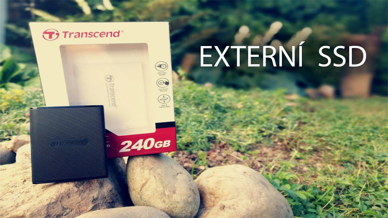 Video pohled na externí disk Transcend ESD220C
