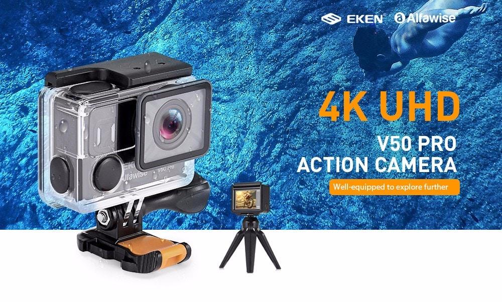 Skvělá akční 4K kamera EKEN Alfawise V50 jen nyní za pár kaček! [sponzorovaný článek]