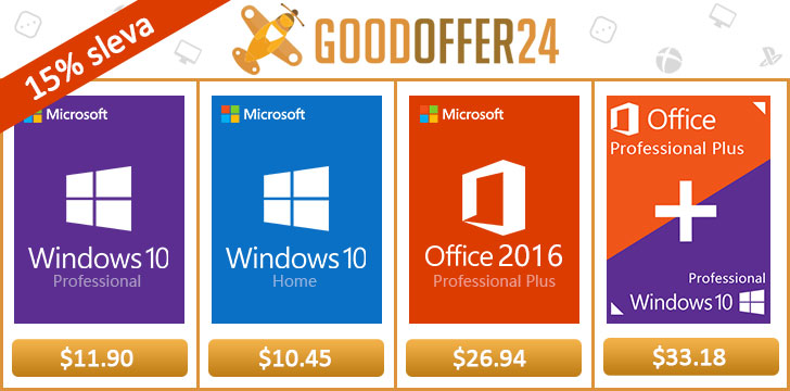 Goodoffer24 má letní slevy na Windows 10 Pro, Office 2016 a více [Sponzorovaný článek]