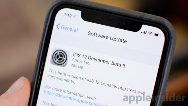 Apple vydal šestou betaverzi iOS 12