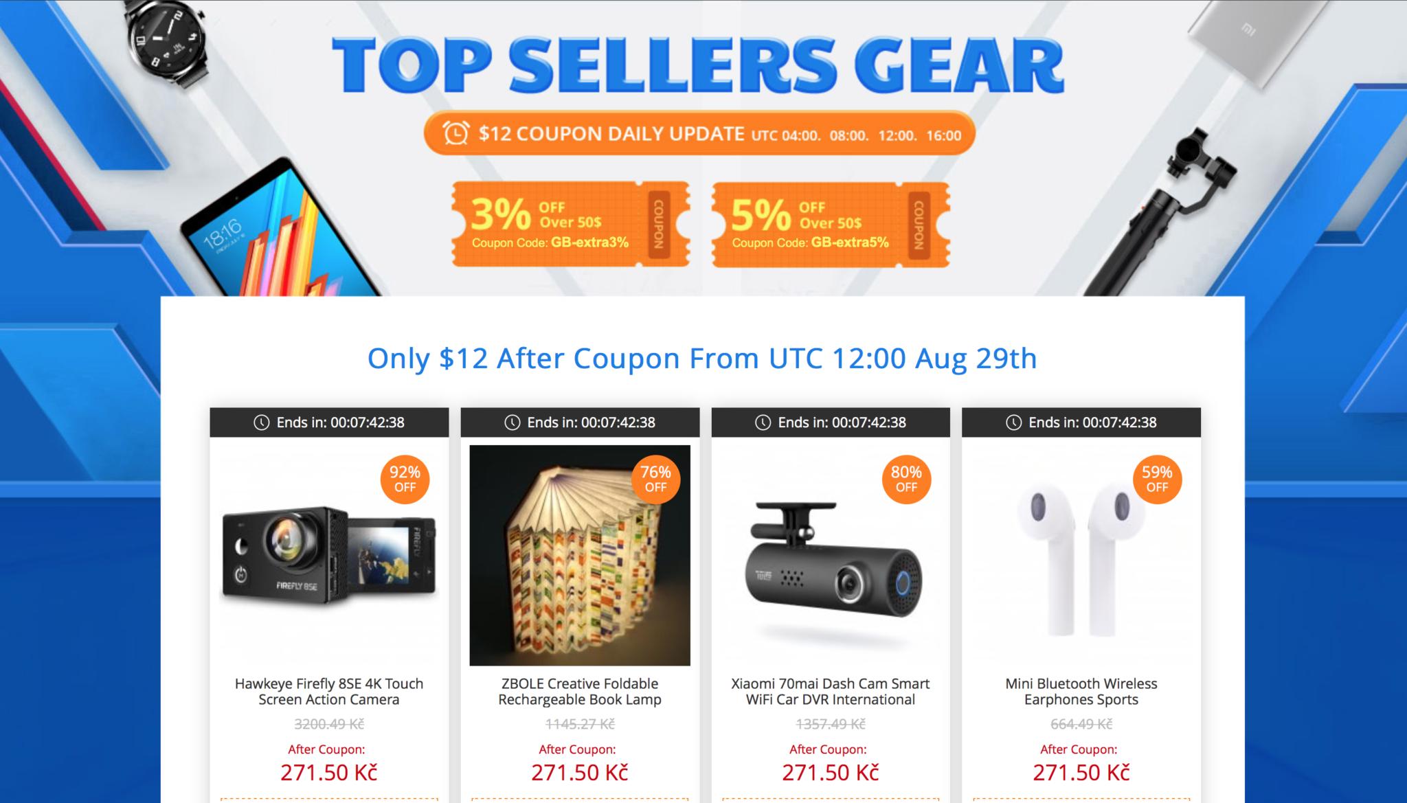 Gearbest výprodej, nyní můžete sehnat produkty až s 80 % slevou! [sponzorovaný článek]