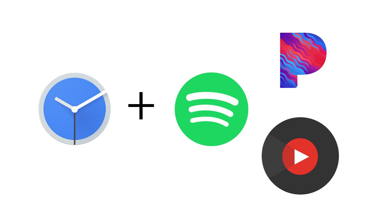 Aplikace Google Hodiny už nabízí Spotify, Pandora a Youtube Music [aktualizováno]