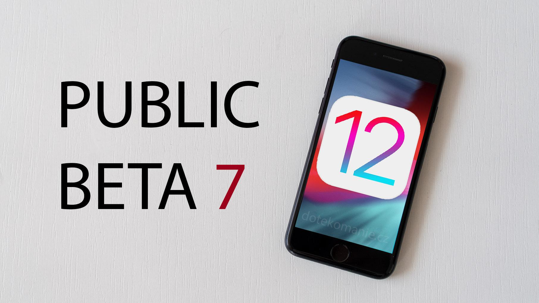 Apple vydal iOS 12 beta 9, novinka přináší opravy chyb