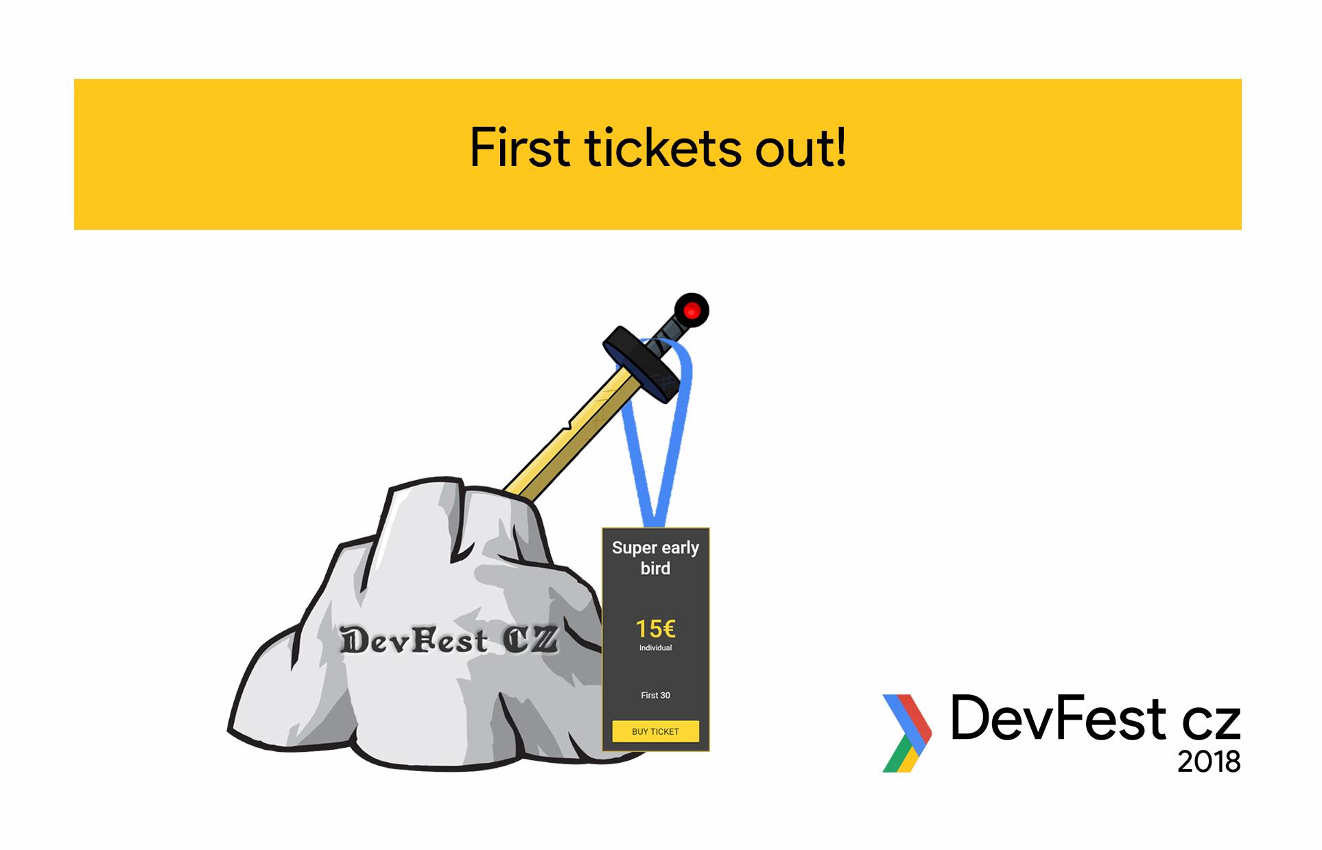 DevFest CZ – začínají se prodávat Super early bird lístky