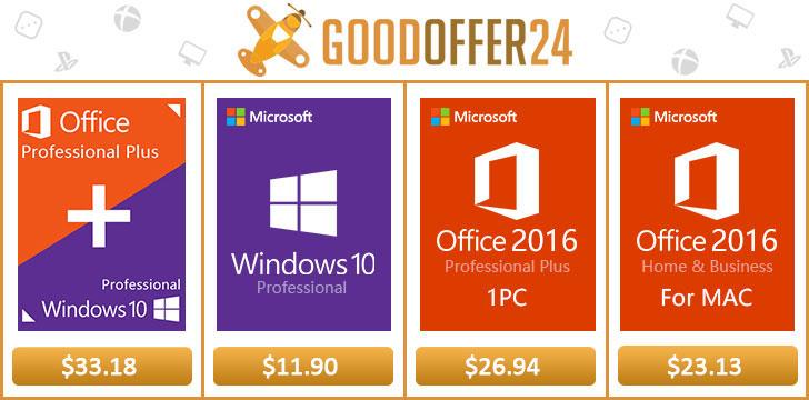 Goodoffer24: Balíček Windows 10 + Office 2016 za exkluzivní cenu [Sponzorovaný článek]