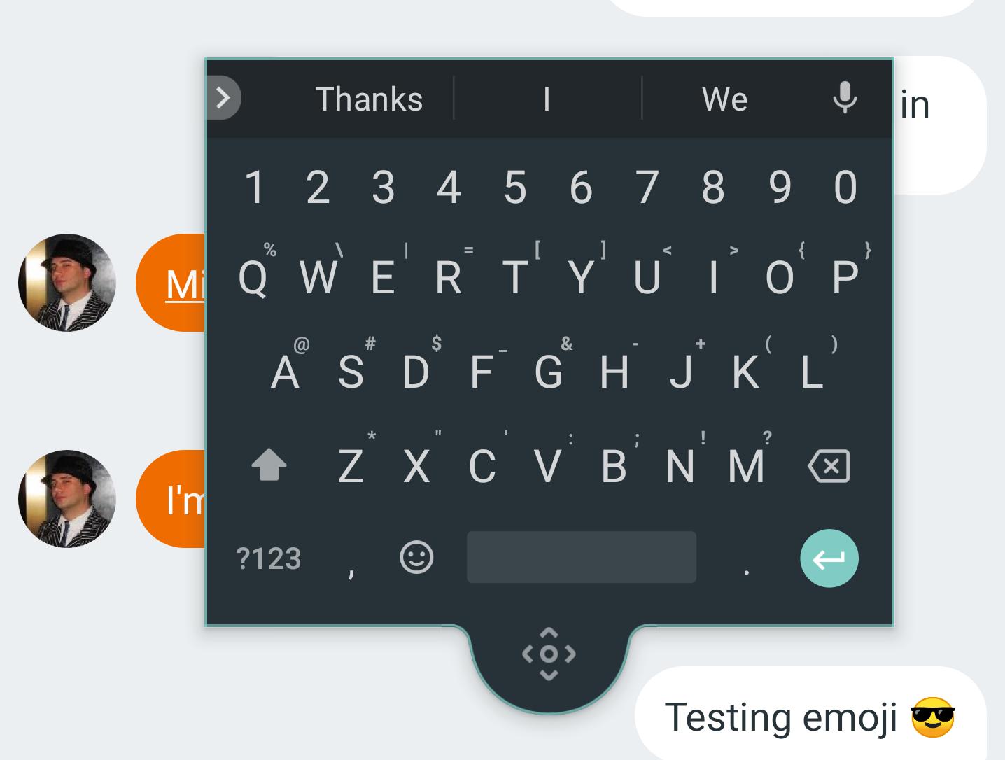 Google Gboard jako plovoucí klávesnice [aktualizováno]