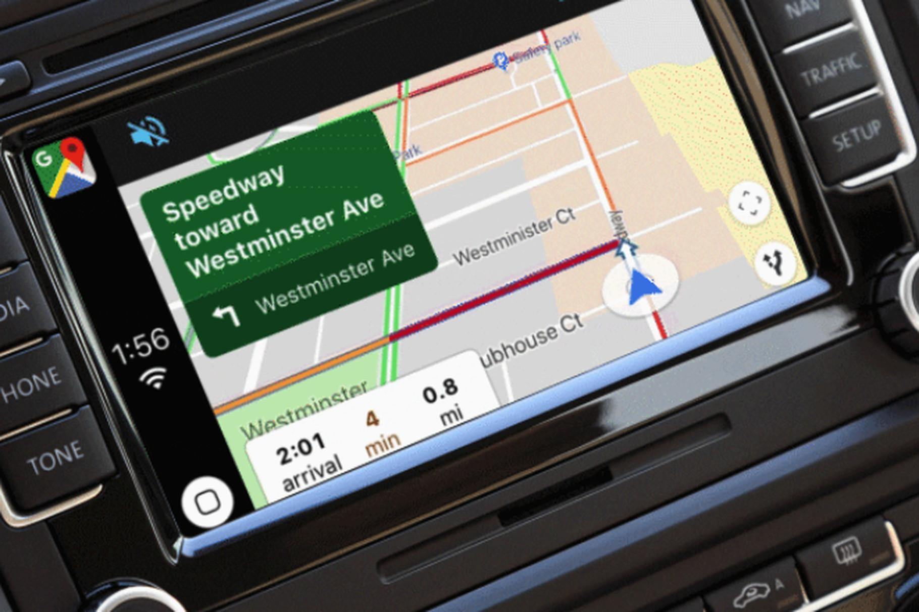 Google Mapy nyní můžete používat v rámci CarPlay