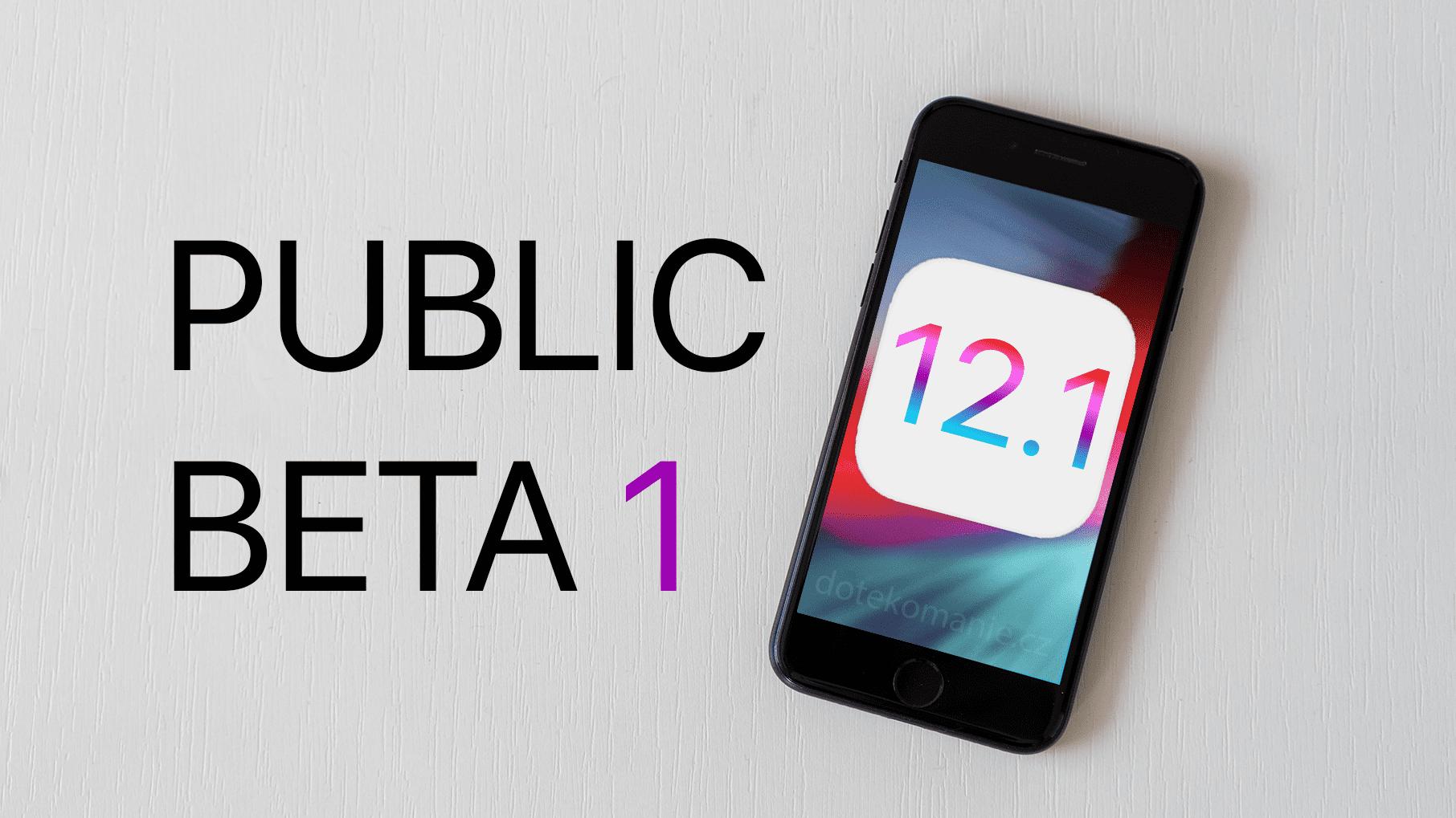Apple vydal první veřejnou beta verzi iOS 12.1 [aktualizováno]
