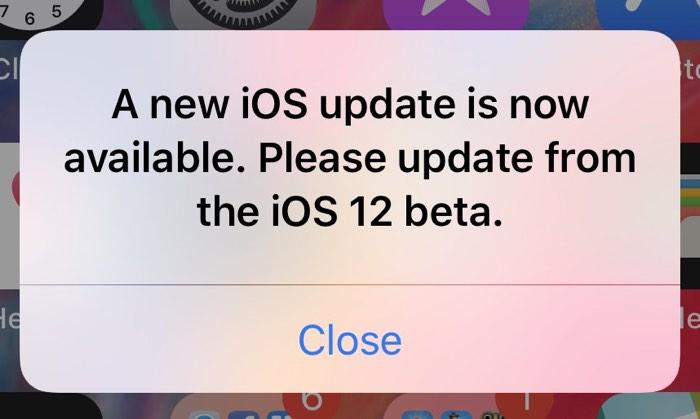 Uživatelé nejnovější beta verze iOS 12 se potýkali s vyskakovacími okny