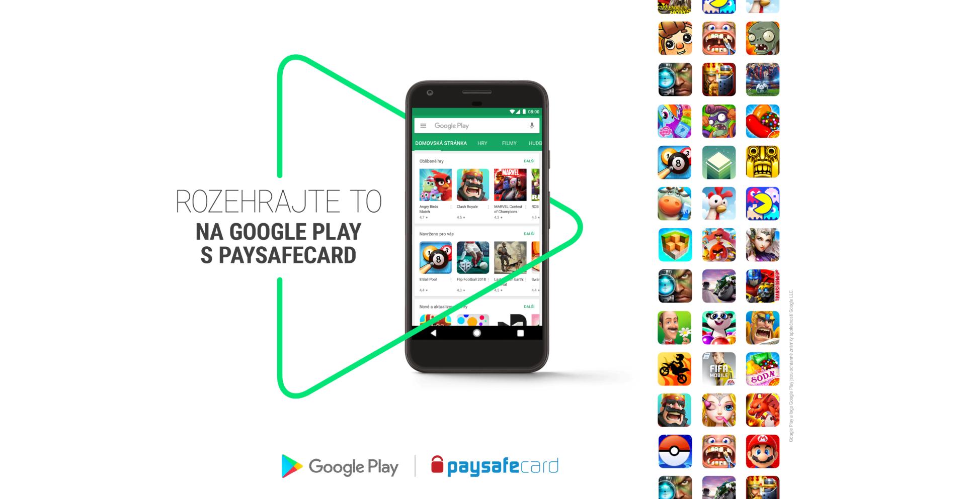 Obchod Play podporuje Paysafecard