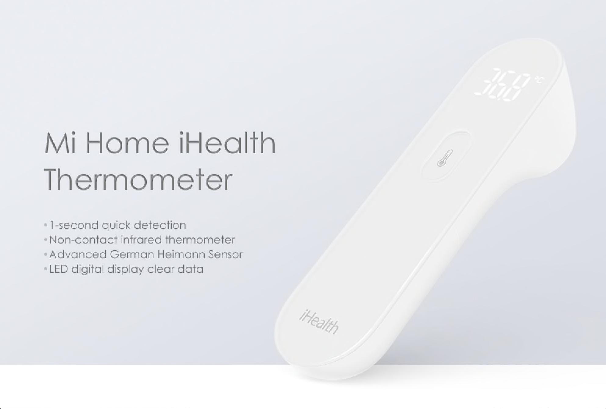 Bezkontaktní teploměr Xiaomi Mi Home iHealth jen nyní ve slevě! [sponzorovaný článek]